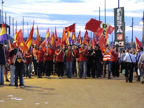 La Juvntudes Comunistas camni del Mitin central de la Fiesta del PCE 2009