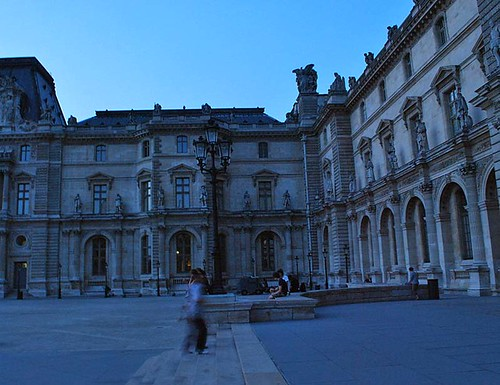 Le Louvre at dusk by Carolyn Teo