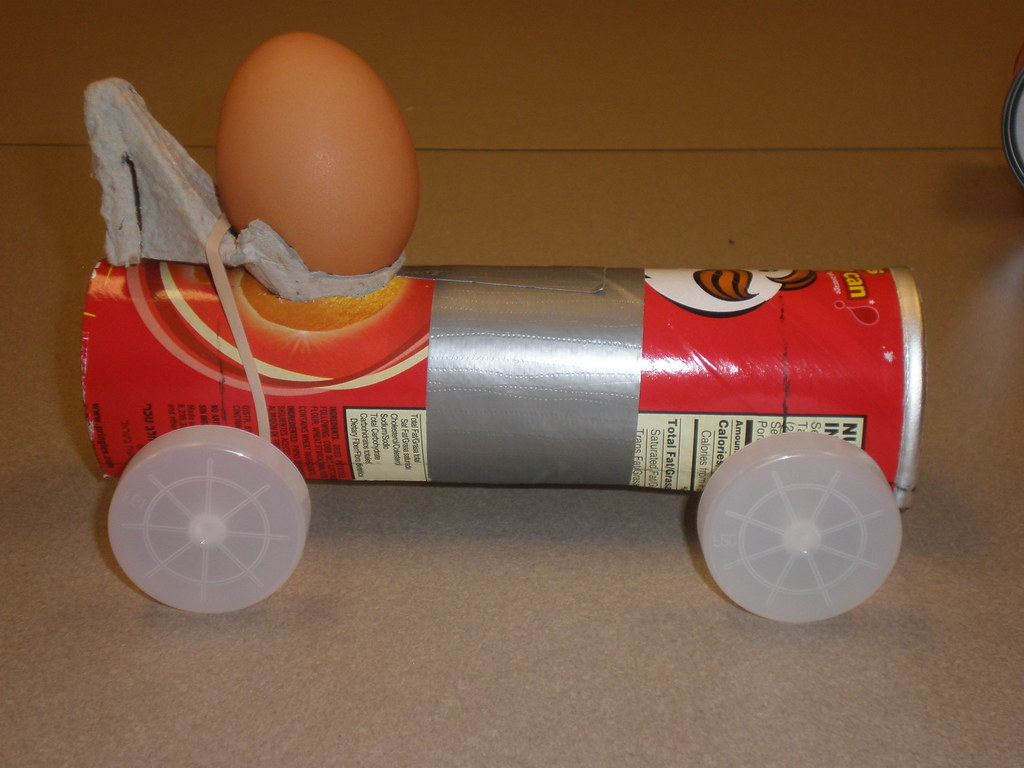 "egg car crash project The lessons in this guide introduce students to the physics of car crashes with high-interest, grade-level appropriate activities designed to meet if the eggs are of equal mass and are thrown at the same velocity they will have the same momenta the wall and prepare a ""crash site"" to test students' projects by spreading."