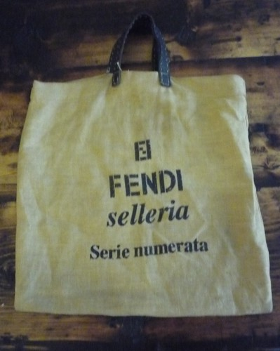 Fendi hessian bag