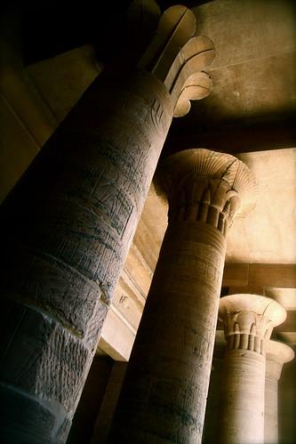 Columns At Philae, Egypt