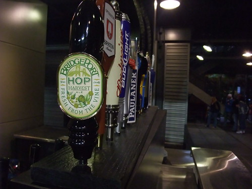 Bridgeports fresh hop beer on tap at Safeco Field for the Mariners Oktoberfest. Hell yeah.