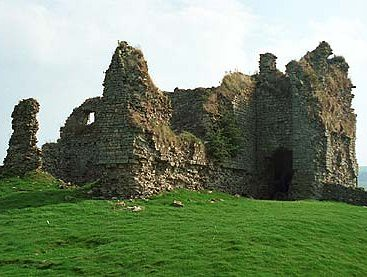 Ruined 14th Century castle at Bewcastle
