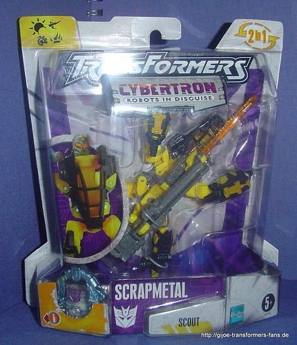 Scrapmetal Gelb/Yellow Cybertron Scout Transformers