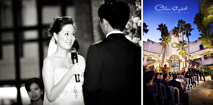 The turnip rose, wedding ceremony, newport plaza, costa mesa, ceremony at night image
