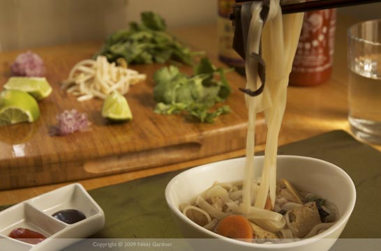Vietnamese Vegetarian Pho Set-Up