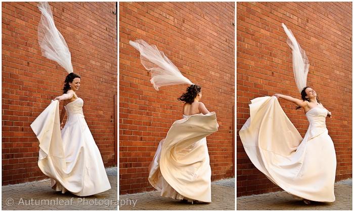 Courtney & Glen - Bride Dancing on the street