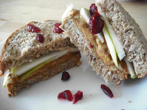 Creamy, Crunchy Fruit-and-Nut Sandwiches