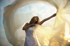 Wishful Thinking (Leah Johnston) Tags: wedding light sunset portrait woman selfportrait girl female self bride veil leah curtain surreal fabric johnston sheer whitedress selfportraitartist leahjohnson leahjohnston leahjohnstonphotography leahjohnstonphotos