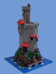 Ocean Outpost (2 Much Caffeine) Tags: tower castle lego round moc foitsop cccvii
