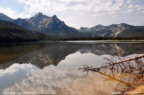 Scenic Sawtooth Mountains near Stanley, Idaho... - 3