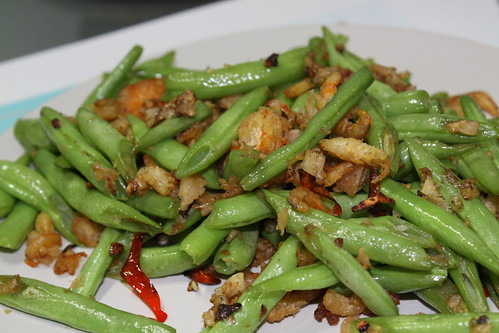 French beans with Dried shrimp
