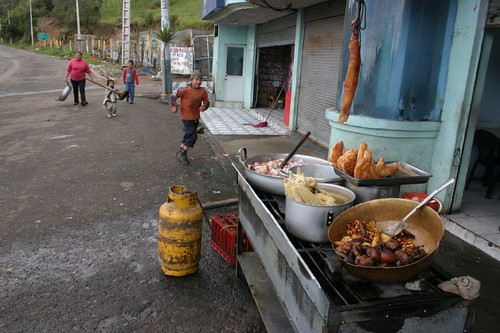 Greasy road side food in Zhud...