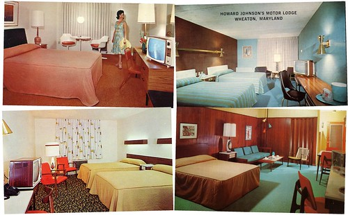 Motel Room Postcards of the 1950s and 60s The MidCentury Modernist – 1950s Bedroom