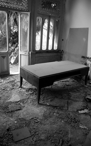 Wooden Desk in Mansion