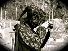 Hooded photographer (Mockney Rebel) Tags: blackandwhite bw zoo hoodie photographer dof marwell