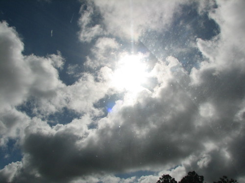 Florida sun shining through clouds