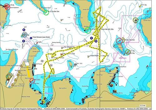 race harbor twilight sailing map sydney route gps cruisingyachtclubofsydney