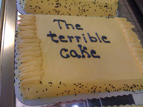 The Terrible (lettering on a) Cake