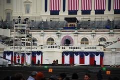 The inaugural dais