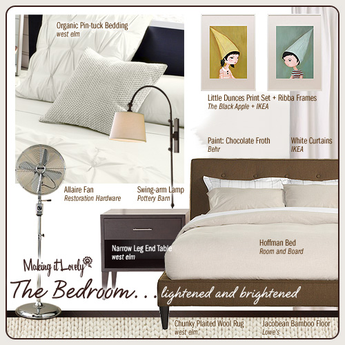 The Bedroom… lightened and brightened