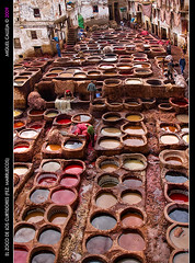 EL ZOCO DE LOS CURTIDORES (FEZ. MARRUECOS) (Miguel_CD) Tags: leather morocco fez maroc souk medina marruecos souq zoco cuero fs tanneries tannerie 24105l 5photosaday mywinners platinumphoto colorphotoaward curtidurias tenerias eos40d citrit colourartaward goldstaraward