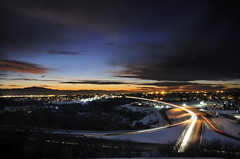 traffic and blue hour (jssutt) Tags: sunset submitted getty dri gettyimages blending digitalblending hillairforcebase laytonutah jssutt jeffsuttlemyre eastlaytonridgedrive