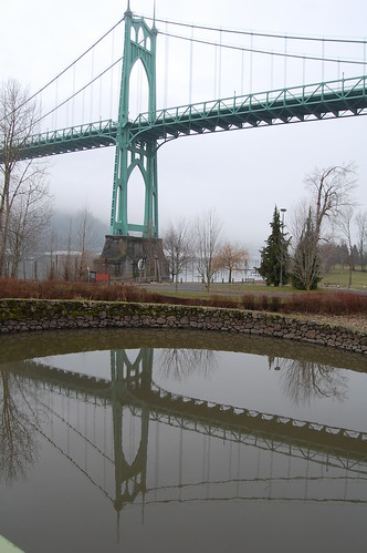 St. Johns Bridge Reflected