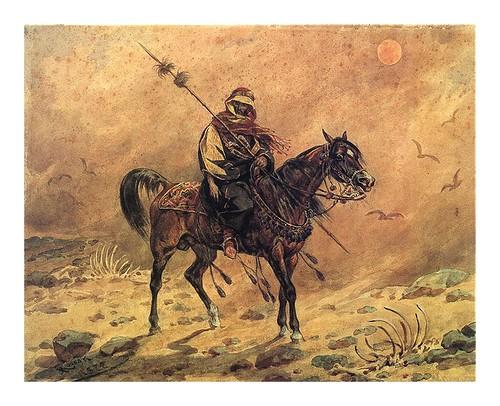 018-Farys 1877-acuarela-Juliusz Kossak