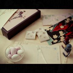 St. Valentine's Day or Homage to Kobayashi Kaichi (Masahiro Makino) Tags: japan pen ink photoshop kyoto chocolate f14 postcard sigma olympus adobe  lightroom envelop  stvalentinesday 30mm e500       kobayashikaichi 20090213153048e500ls640p