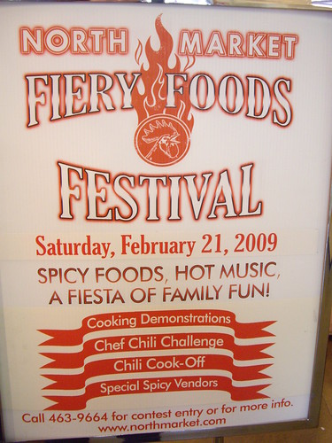 North Market Fiery Foods Festival Sign