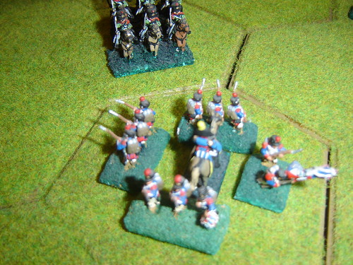 D'Erlon forms square against the Prussian cavalry