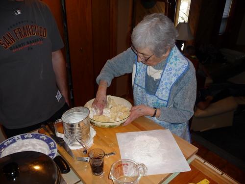 Kneading Cavatelli Dough