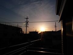 自宅からの夕日