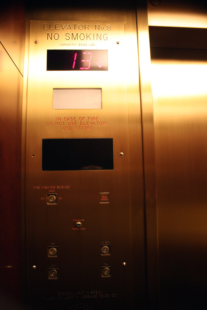 (cw3283) Tags: Gold Elevator Numbers 13 13th 13thfloor