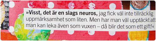 Visst ?r det en slags neuros - text quote (Copyright Hanna Andersson)