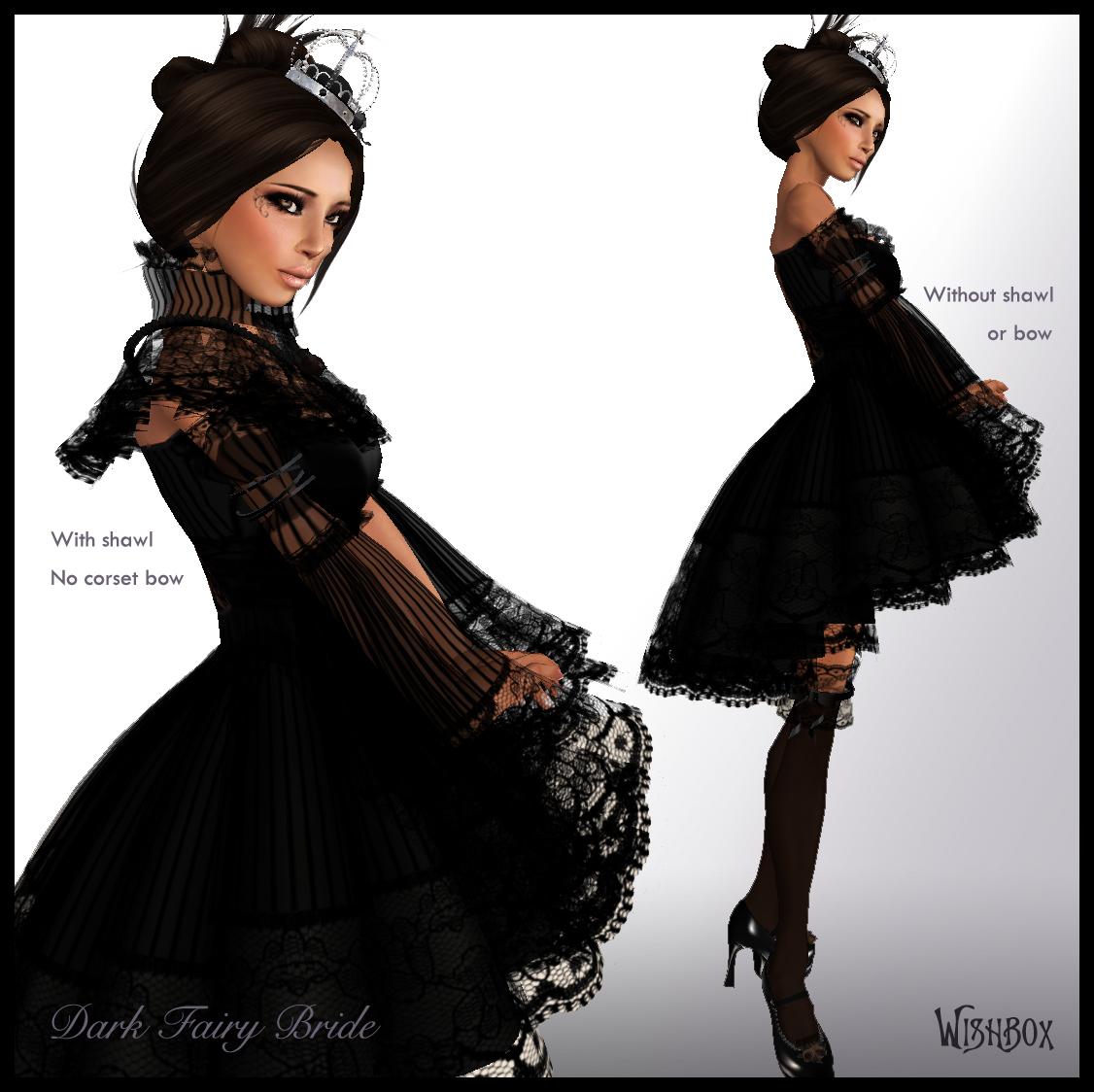 Chic Gothic Wedding Gown