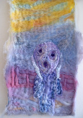 the scream (Lins Art) Tags: hand made embroiderymachine embroideryapplique felthand