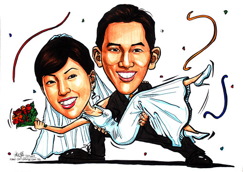 wedding couple caricatures 130709