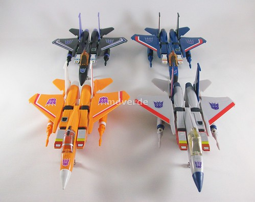 Transformers Sunstorm G1 eHobby vs Starscream vs Skywarp vs Thundercracker - modo alterno