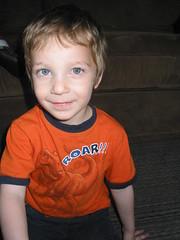 Gavin smiling