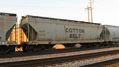 A former Cotton Belt covered hopper car in transit. Franklin Park Illinois. Thursday, June 18th 2009.