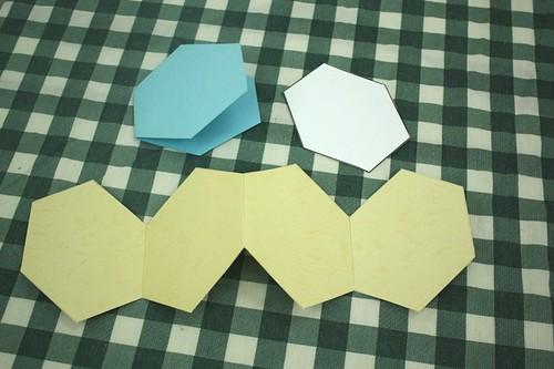 minibooks hexagons