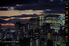 Central Tokyo Yaseu side.... (Ken.Lam) Tags: park sunset tower st japan clouds buildings lights tokyo ginza twilight dusk forum illuminations international fantasy    hdr axis offices  toyosu      yaseu