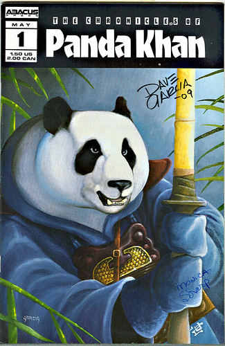 """The Chronicles of Panda Khan"" #1  Abacus Press..signed by Dave Garcia & Monica Sharp (( 1986 ))"