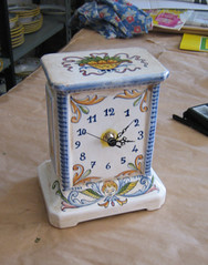 Deruta ceramic clock