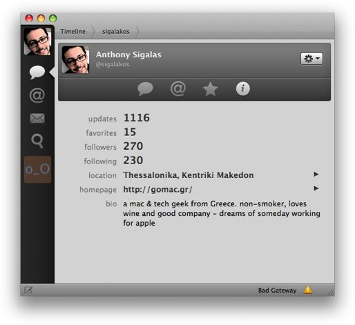 tweetie profile