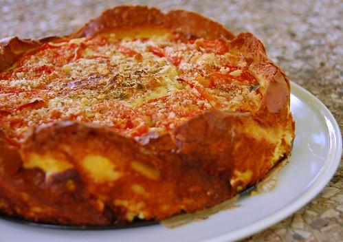 torta di pane zucchini e pomodori