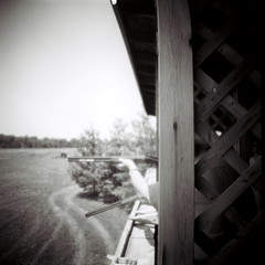 bw white black southwest film rollei analog lens lomo lomography gun shoot shot michigan rifle shell case retro plastic diana 55mm disk shooting 100 analogue shotgun disc casing skeet buckshot newbuffalo pellet threeoaks tempecamera
