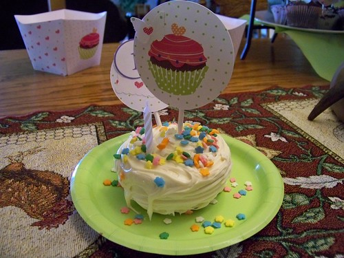 The Birthday Girl's Special Cupcake